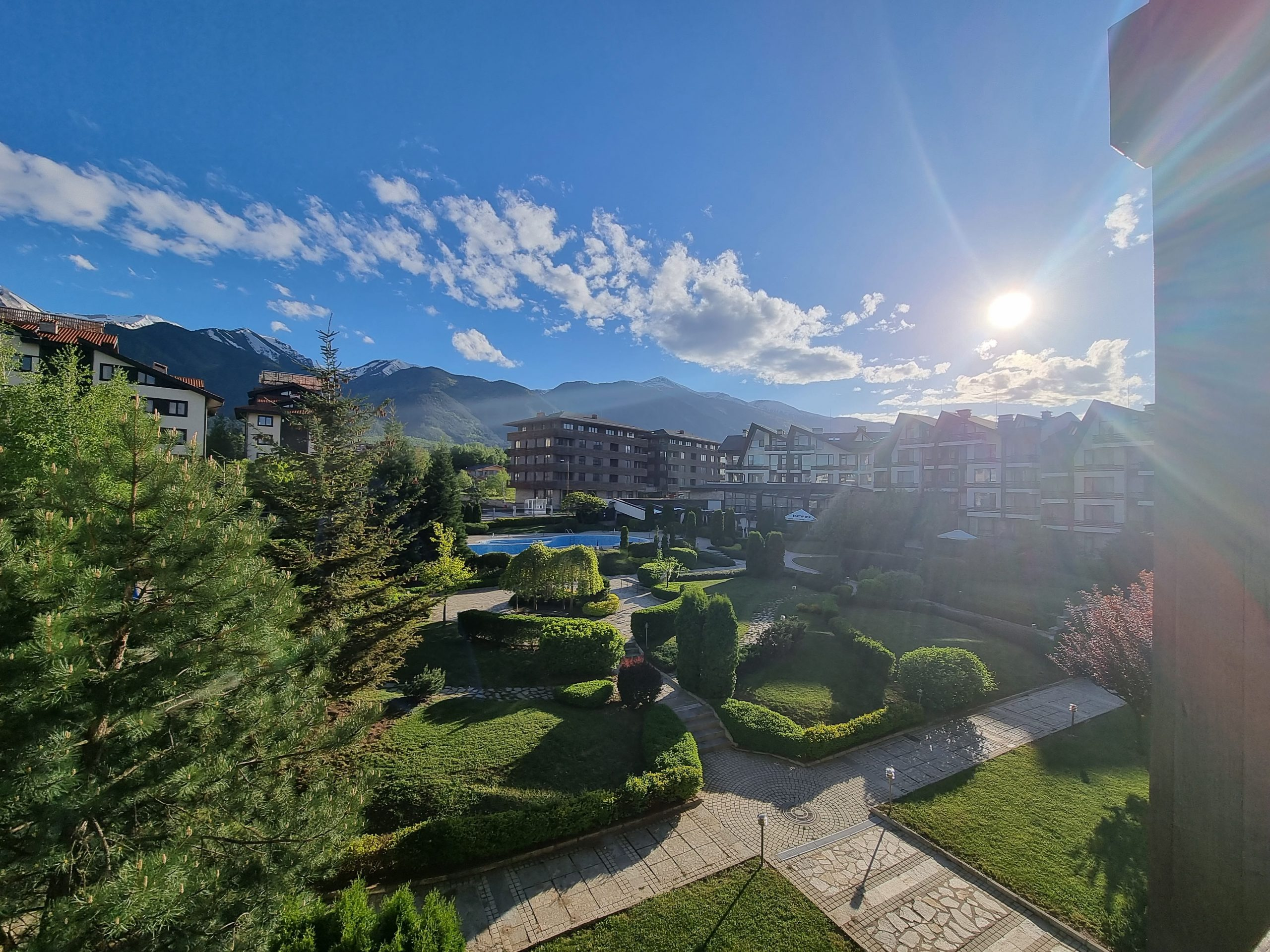 1 bedroom apartment with a mountain view in Aspen Golf near Bansko