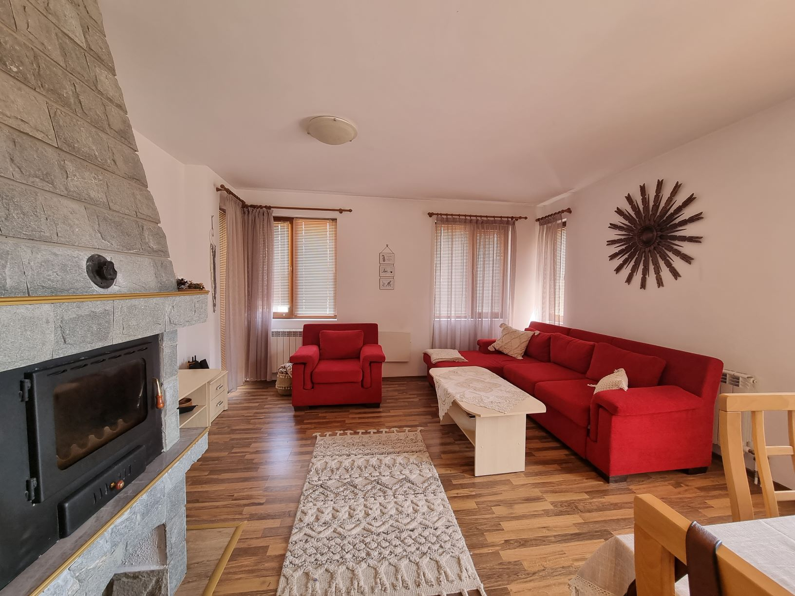 One-bedroom apartment with fireplace in Pirin Heights Bansko